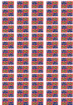 Burgundy Flag Stickers - 65 per sheet